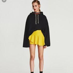 Zara yellow ruffle skort mini short skirt